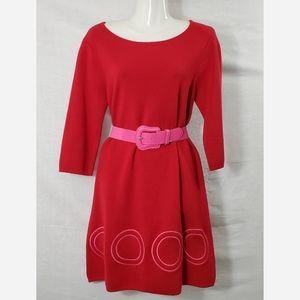 Alice + Olivia Red Wool Dress
